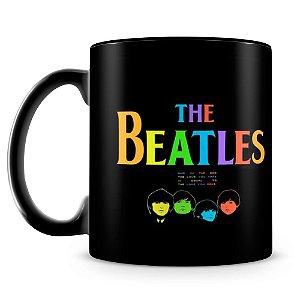 Caneca Personalizada The Beatles (100% Preta)