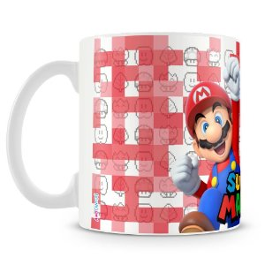 Caneca Plástica Personalizada Mario e Luigi