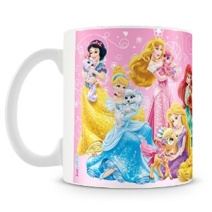 Caneca Plástica Personalizada Princesas