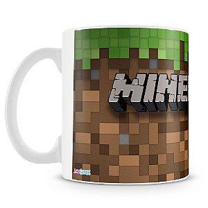 Caneca Plástica Personalizada Minecraft (Mod.1)