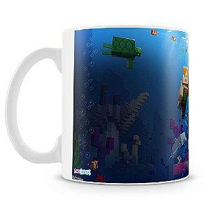 Caneca Plástica Personalizada Minecraft (Mod.2)
