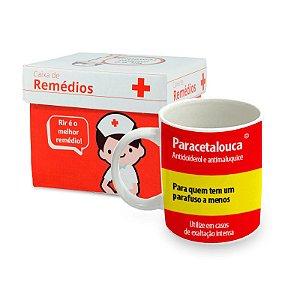 Caneca de Porcelana Remédio Paracetalouca