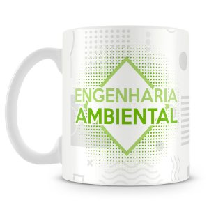 Caneca Personalizada Engenharia Ambiental (Com Nome)