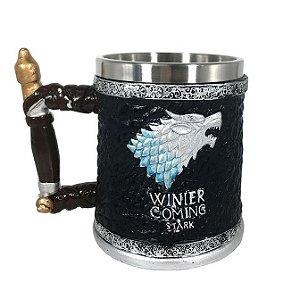 Caneca Inox Resina Game Of Thrones Stark