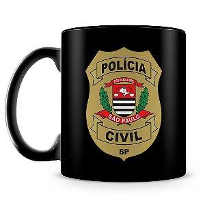 Caneca Personalizada Polícia Civil de São Paulo (100% Preta)