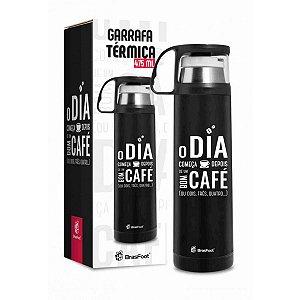 Garrafa Térmica com Caneca O Dia Começa com Café