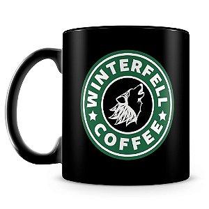 Caneca Personalizada Winterfell Coffee (100% preta)