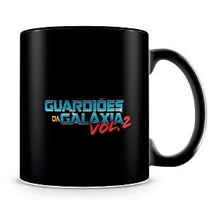 Caneca Personalizada Guardiões da Galáxia Awesome Mix (100% Preta)