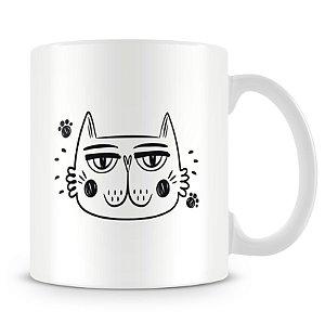 Caneca Personalizada Trabalho Duro Pelo Meu Gato