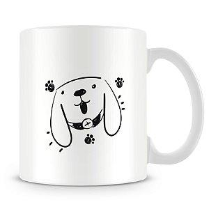 Caneca Personalizada Trabalho Duro Pelo Meu Cachorro