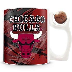 Caneca Alça Bola Personalizada Chicago Bulls (Basquete)