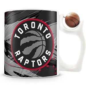 Caneca Alça Bola Personalizada Toronto Raptors (Basquete)