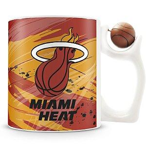 Caneca Alça Bola Personalizada Miami Heat (Basquete)