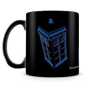 Caneca Personalizada Doctor Who (100% preta)