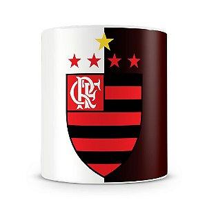 Caneca Personalizada Alça Bola Time Flamengo
