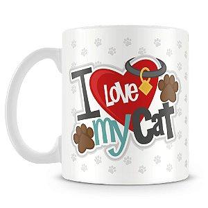 Caneca Personalizada I Love My Cat (Com Foto)