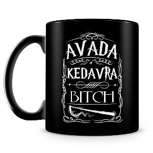 Caneca Personalizada Avada Kedavra (100% Preta)