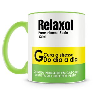 Caneca Personalizada Remédio Relaxol