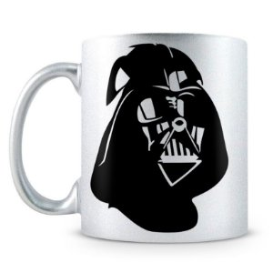Caneca Personalizada Star Wars Darth Vader Perolizada Prata