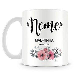Caneca Personalizada Madrinha (Com Nome)