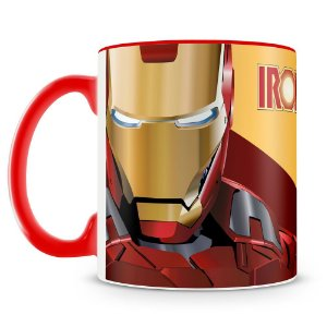 Caneca Personalizada Iron Man Cartoon