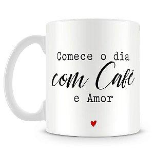 Caneca Personalizada Café e Amor