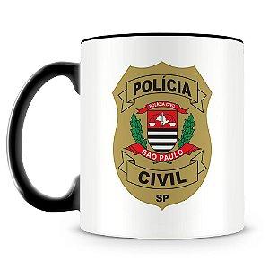 Caneca Personalizada Polícia Civil de São Paulo (Com Nome)