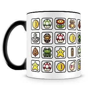 Caneca Personalizada Elementos Mario