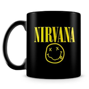 Caneca Personalizada Banda Nirvana (100% Preta)