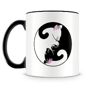 Caneca Personalizada Gato Yin Yang
