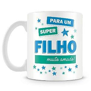 Caneca Personalizada Super Filho (1 Foto)
