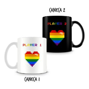 Caneca Dupla Personalizada Player Pride