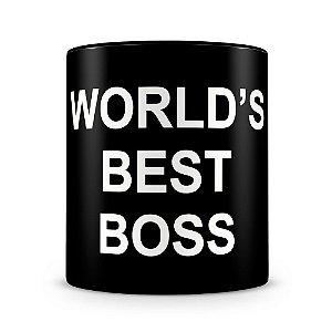 Caneca Personalizada World's Best Boss (100% Preta)