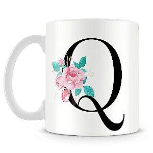 Caneca Personalizada Letra Q