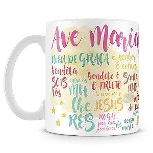 Caneca Personalizada Ave Maria
