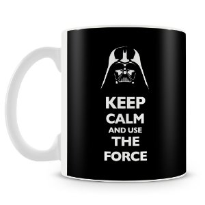 Caneca Personalizada Darth Vader Keep Calm