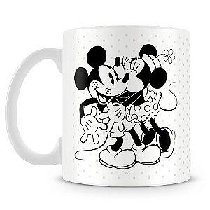Caneca Personalizada Mickey e Minnie Kiss