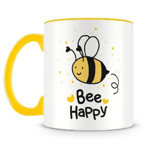 Caneca Personalizada Bee Happy