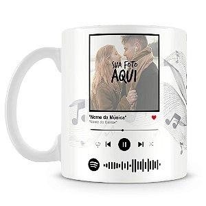 Caneca Personalizada com Foto e Música Spotify (Mod.2)