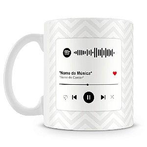 Caneca Personalizada com Música Spotify