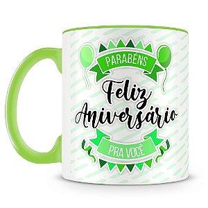 Caneca Personalizada Aniversário - Verde (Foto e Nome)