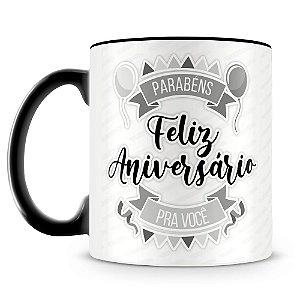 Caneca Personalizada Aniversário - Preta