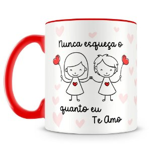 Caneca Personalizada O Quanto Eu Te Amo (menina e menina)