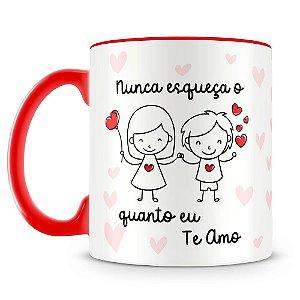 Caneca Personalizada O Quanto Eu Te Amo (menina e menino)