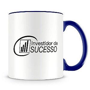 Caneca Personalizada Investidor de Sucesso Foguete