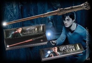 Réplica Oficial e Original Varinha Harry Potter que acende por Noble Collection (illuminating wand)