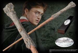 Réplica oficial e original Varinha Harry Potter na caixa simples por Noble Collection