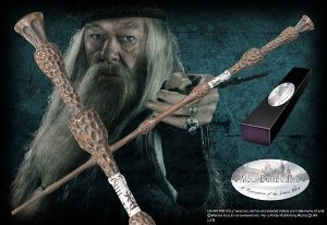 Réplica Oficial e Original Varinha Professor Dumbledore na caixa simples por Noble Collection