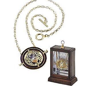 Harry Potter Vira Tempo com detalhes em ouro 24K Produto Original e licenciado Noble Collection