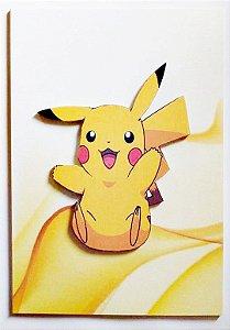 Quadro em alto relevo Personagens Pokémon